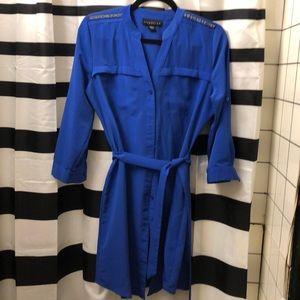 Attention royal blue shirt dress. Size M